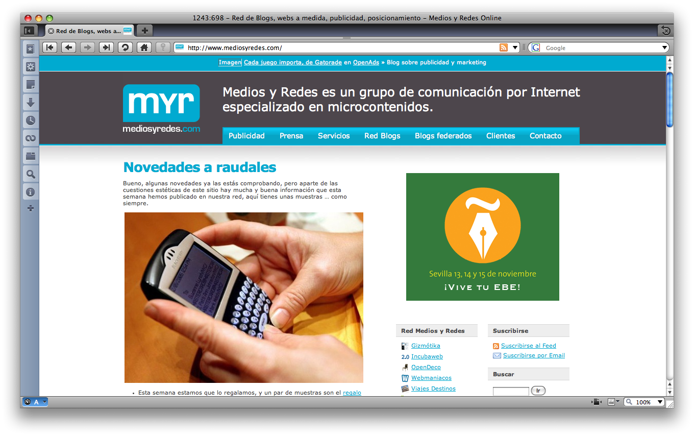 Diseño MyR hasta 2009